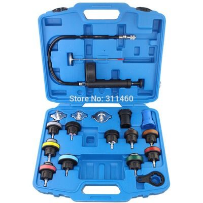 18Pcs/Set Radiator Pressure Tester Tool Kit Cooling System Testing Tool Water Tank Car Leakage Detector For Audi BMW Ford Volvo