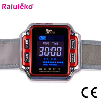 Laser Physiotherapy Wrist Watch Diabetes/Sinusitis Wrist Watch Diode 650nm For Diabetes Hypertension Thrombosis Cholesterol