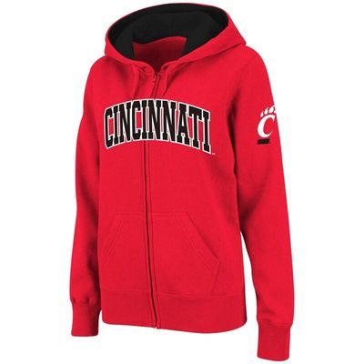 Cincinnati Bearcats Stadium Athletic Women's Arched Name Full-Zip Hoodie - Red