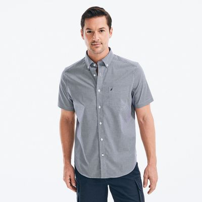 Nautica Classic Fit Wrinkle-resistant Gingham Short Sleeve Shirt