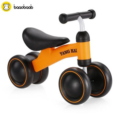 BAAOBAAB Three Wheel Baby Children Balance Bike Scooter Baby Walker Infant 1-3 Years Scooter No Foot Pedal New Riding Toys