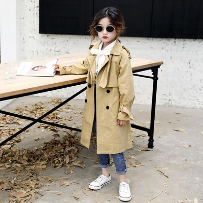 Children baby girl spring autumn new trench coats 2019 Korean style fashion belt loose Jackets kids teens outerwear ws382