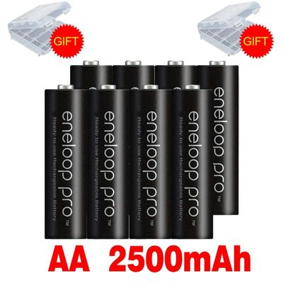 Original Battery Pro AA 2500mAh 1.2V NI-MH for Camera Flashlight Toy Pre-Charged Rechargeable Batteries