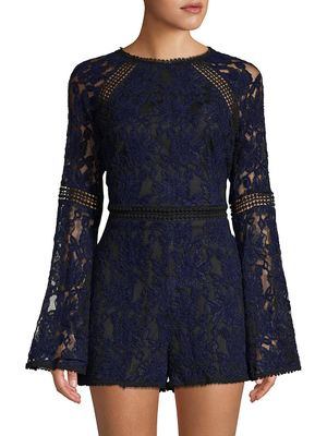 cupcakes and cashmere Cally Chenille Lace Romper