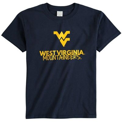 West Virginia Mountaineers Youth Crew Neck T-Shirt - Navy