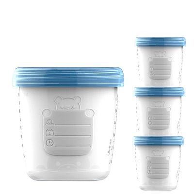 4Pcs/Set Milk Bottle Storage Cup For Breast Pump Baby Feeding Sealed Supplement Food Containers Kit Snack Tank Portable T2243