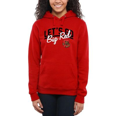 Cornell Big Red Women's Let's Go Pullover Hoodie - Red
