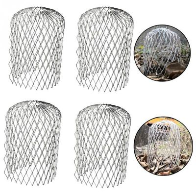 4pcs Gutter Guard Stop Blockage Downspout Cover Leaves Debris Aluminum Filter Mesh Expandable Strainer Durable Anti Rust