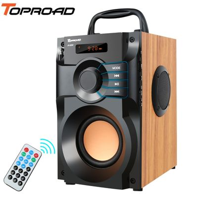 TOPROAD Portable Bluetooth Speaker Wireless Stereo Subwoofer Bass Speakers Column Support FM Radio TF AUX USB Remote Control