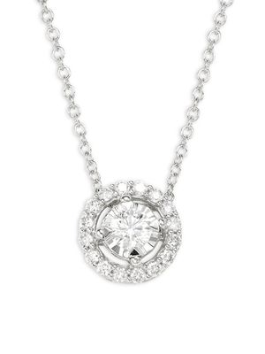 Effy 14K White Gold & Diamond Pendant Necklace