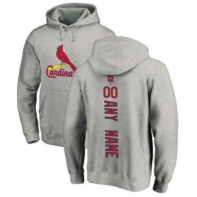 St. Louis Cardinals Fanatics Branded Personalized Playmaker Pullover Hoodie - Ash