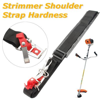 Unviersal Black Grass Cutter Accessories Shoulder Strap Harness For Brush Cutter With Confortable Shoulder Padsleg Prote