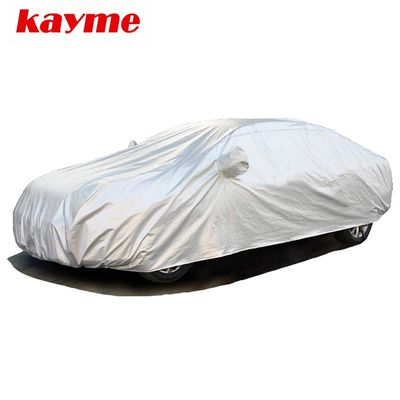 Kayme Full Car Covers Dustproof Outdoor Indoor UV Snow Resistant Sun Protection polyester Cover universal Fit Sedan Hathcback