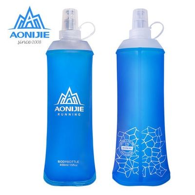 AONIJIE 1Pcs Foldable Silicone Water Bottle Outdoors Traveling Sport Running Cycling Kettle Healthy Soft Material 250ML 500ML