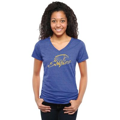 Embry-Riddle Eagles Women's Classic Primary Tri-Blend V-Neck T-Shirt - Royal