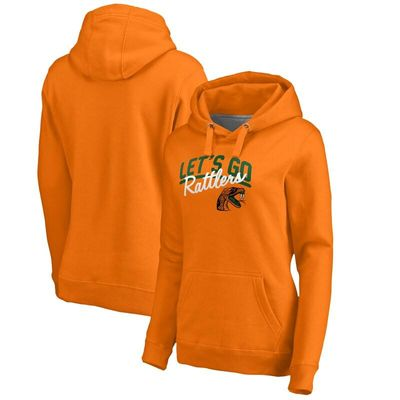 Florida A&M Rattlers Women's Let's Go Pullover Hoodie - Orange