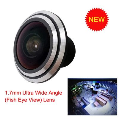 New (Fish Eye View)1/3inch Mini Lens 1.7 mm Ultra Wide Angle For CCTV IR HD AHD TVI 1080P Wireless Netwowork Night Vision Camera