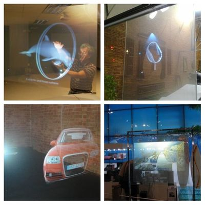 21*30CM Projection Screen Self AdhesiveTransparant Rear Projector film Holographic  Beamer Mounted Canvas For Home Theater