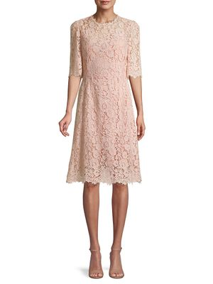 Dolce & Gabbana Short-Sleeve Lace Dress