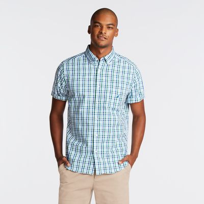 Nautica Classic Fit Short Sleeve Shirt In Plaid
