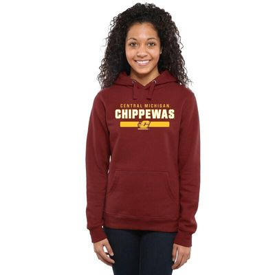 Central Michigan Chippewas Women's Team Strong Pullover Hoodie - Maroon