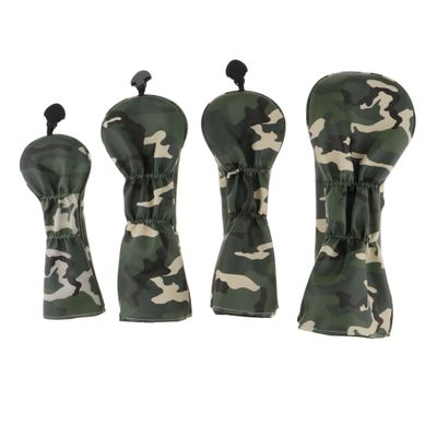4 Pieces Interchangeable Adjustable Wear Resistant Golf Club Head Covers #1 #3 #5 UT Driver Wood Protector Gift for Family