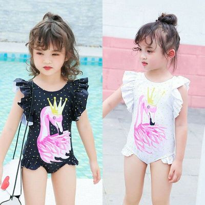 Swimsuit 2019 Toddler Kids Baby Girls Flamingo Printed Bikini Sleeveless Ruffles Swimwear Swimsuit Bathing Beach Holiday Bikinis