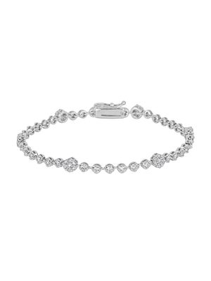 Saks Fifth Avenue 14K White Gold & Diamond Illusion-Set Bracelet