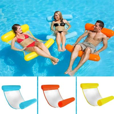 Folding Lounge Chair Floating Inflatable Water Swimming Toys for Kids Adult Pool Rafts Swimming Inflatable Toys Gift Kids Toys