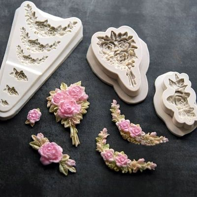 Flower cluster 3 shapes flower silicone mold DIY syrup chocolate mold UV resin ceramic clay decoration accessories mold
