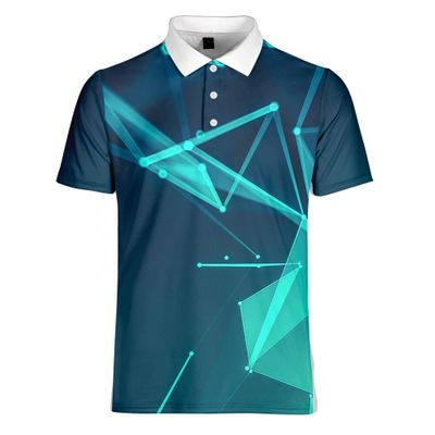 WAMNI 3D Tennis T Shirt Casual Sport Badminton Quick Drying Loose Turn-down Collar Button Male Streetwear gentleman -shirt