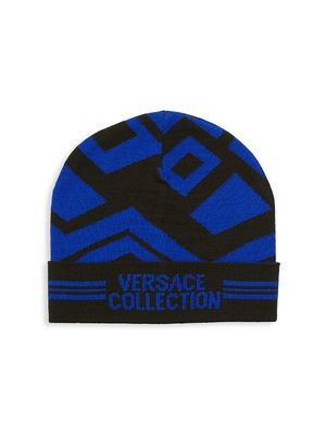 Versace Collection Logo Patterned Hat