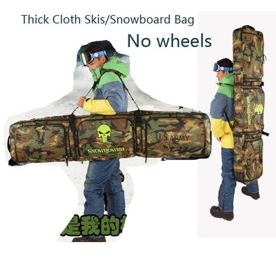 136-166cm snowboard bag / skis Bag clothing All stuff Bag / Backpack Crossbody Belt padded Thick cushion camouflage A5112