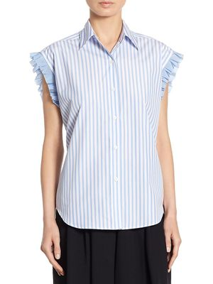 Tome Striped Lace-Up Back Shirt