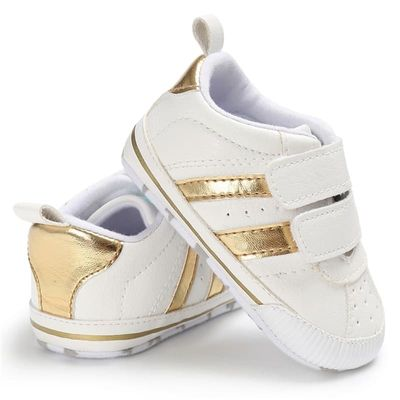 Boys Girls Sneakers Fashion Casual Shoes Baby PU Leather Sports Non-slip Infant Toddler Soft Sole Anti-slip Baby Shoes