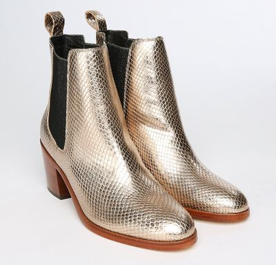 Paul Smith Women's Gold Snake Boot