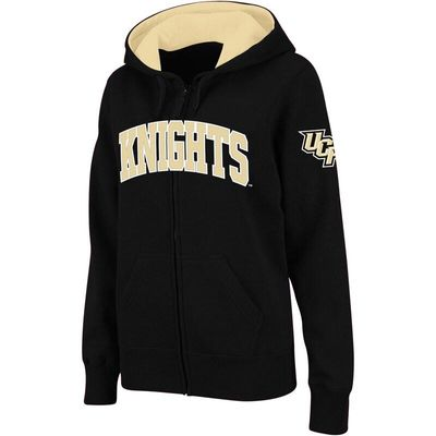 UCF Knights Stadium Athletic Women's Arched Name Full-Zip Hoodie - Black