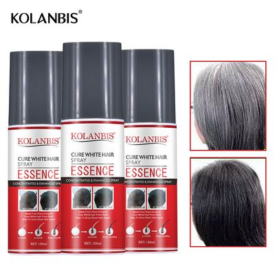 3 bottle one period of treatment cure grey hair treatment spray from root no side effect hair&scalp  White hair repair