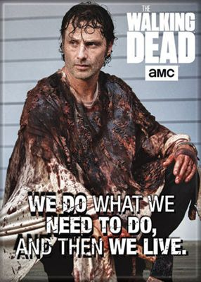The Walking Dead Rick We Live Photo 2 1/2 in. x 3 1/2 in Magnet