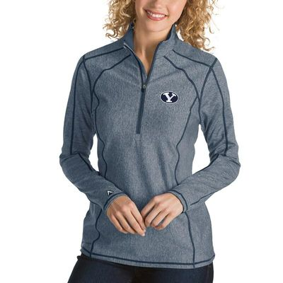 BYU Cougars Antigua Women's Tempo 1/4-Zip Desert Dry Pullover Jacket - Navy