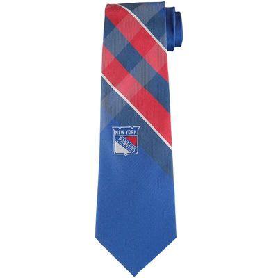 New York Rangers Woven Poly Grid Tie