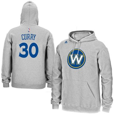 Stephen Curry Golden State Warriors adidas Name & Number Pullover Hoodie - Gray