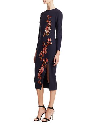 Cinq a Sept Lexi Embroidered Floral Dress