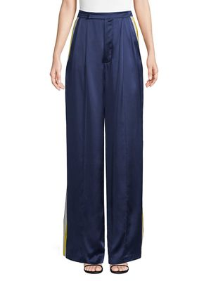 Alexis Nicoli Sports Stripe Silk Pants