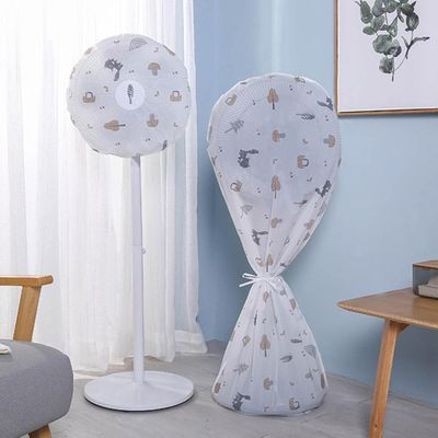 Household Round Electric Floor Fan Dust Cover 60cm*140cm Stand Fan Cover With Zipper Fan Guard Blower Dustproof Bag Protection