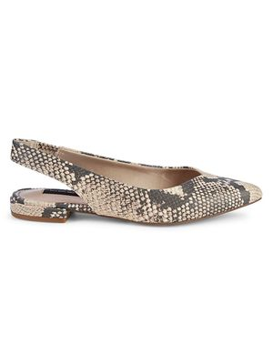 Steven New York Printed Leather Slingback Flats
