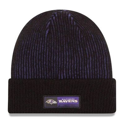 Baltimore Ravens New Era Sideline Official Tech Knit Hat - Black