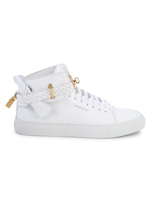 BUSCEMI 100MM Trio Leather High-Top Sneakers