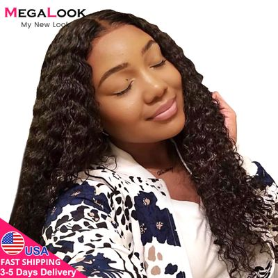 Water Wave Closure Wigs Lace Wig Human Hair Lace Closure 150%13X4 4x4 Closure Wigs Remy 30inch Brazilian Water Wave Wig