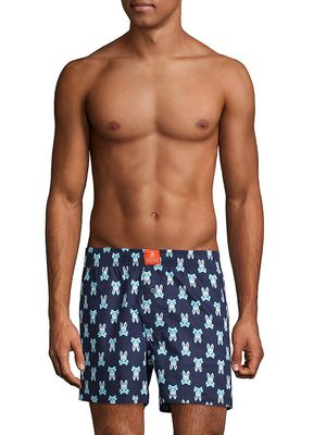 Psycho Bunny Lounge Printed Cotton Boxers